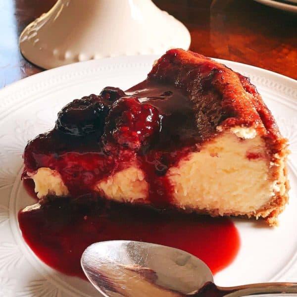 Cheesecake de Forno e Coulie de Frutos Silvestres